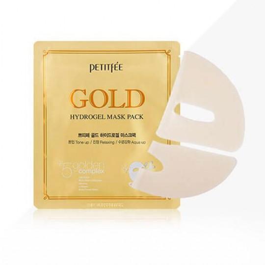 Маска для лица гидрогел. c ЗОЛОТОМ Gold Hydrogel Mask Pack