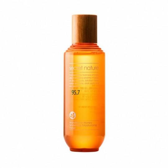 Тоник с мандарином и прополисом, придающий сияние SECRET NATURE Mandarine Honey Whitening Moisturizing Toner, 130мл