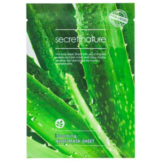 Смягчающая маска для лица с алоэ SECRET NATURE Soothing Aloe Mask Sheet