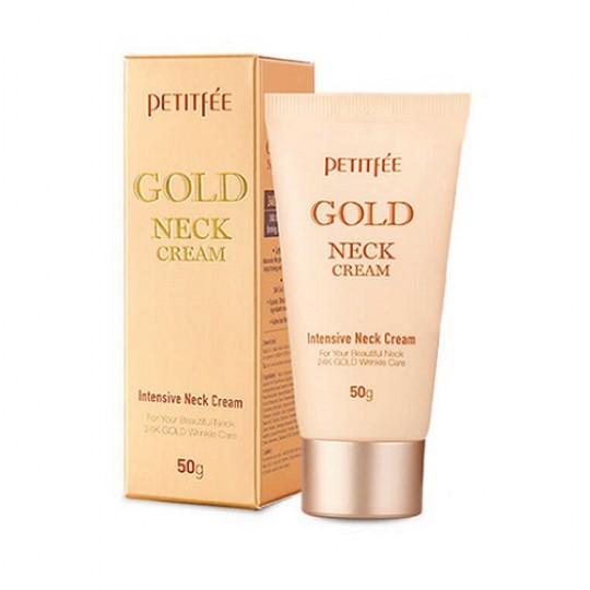 Крем для шеи антивозрастной PETITFEE GOLD INTENSIVE NECK CREAM, 50 гр.