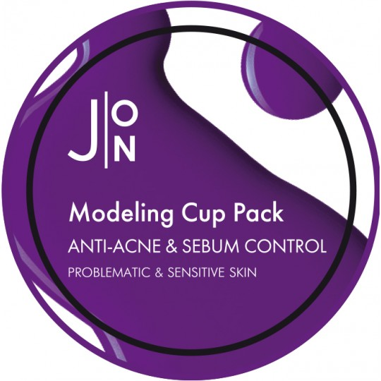Альгинатная маска АНТИ-АКНЕ И СЕБУМ КОНТРОЛЬ J:ON ANTI-ACNE & SEBUM CONTROL MODELING PACK, 18гр