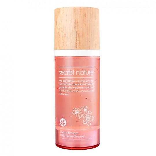 Гидрофильное масло-пенка для умывания с вишней SECRET NATURE Cherry Blossom Oil to Foam Cleanser, 100мл