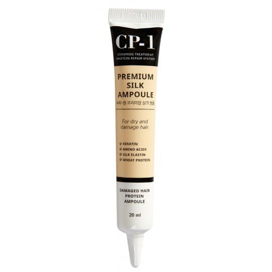 Несмываемая сыворотка для волос с протеинами шелка Esthetic House CP-1 Premium Silk Ampoule, 20 мл
