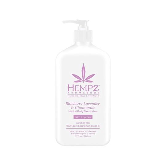 Молочко для тела увлажняющее Лаванда, Ромашка и Дикие Ягоды Hempz Blueberry Lavender & Chamomile Herbal Body Moisturizer, 500мл