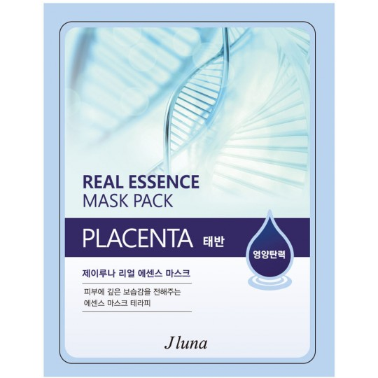 Тканевая маска с плацентой Juno Real Essence Mask Pack Placenta, 25мл
