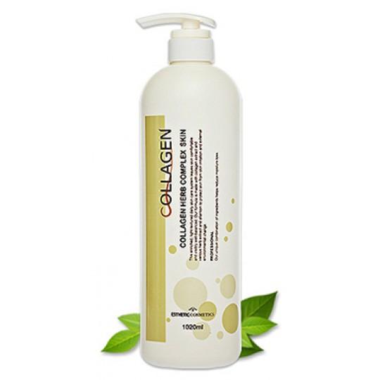 Тоник для лица КОЛЛАГЕН И РАСТИТЕЛЬНЫЕ ЭКСТРАКТЫ Esthetic House Collagen Herb Complex Skin, 1000 МЛ