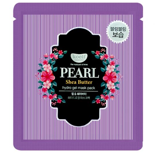 Маска для лица гидрогелевая с маслом ши и жемчужной пудрой PEARL & SHEA BUTTER, 30 гр
