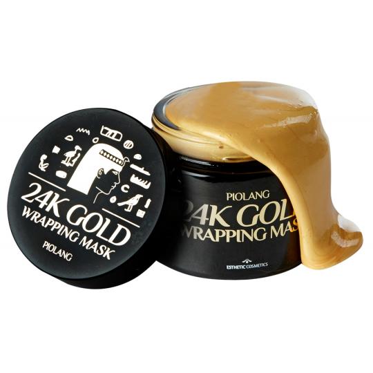 Маска для лица с 24 каратным золотом PIOLANG 24k GOLD WRAPPING MASK, 80мл.