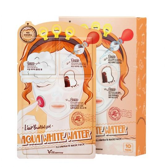 Маска для лица трехэтапная УВЛАЖНЯЮЩАЯ 3-step Aqua White Water Illuminate Mask Sheet.