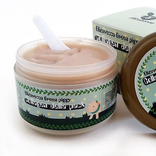 Маска для лица желейная с коллагеном ЛИФТИНГ РАЗГЛАЖИВАНИЕ Elizavecca Green Piggy Collagen Jella Pack, 100 мл.