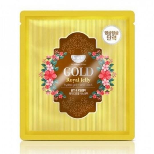 Маска для лица гидрогелевая с золотом и маточным молочком GOLD & ROYAL JELLY MASK, 30 гр