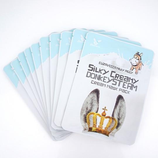 Маска тканевая с паровым кремом из ОСЛИНОГО МОЛОКА УВЛАЖНЕНИЕ Elizavecca Silky Creamy donkey Steam Cream.