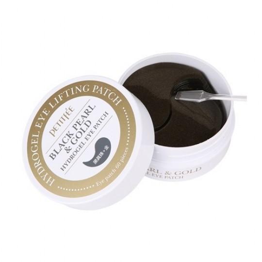Набор патчей для век ЖЕМЧУГ/ЗОЛОТО Black Pearl&Gold Hydrogel Eye Patch, 60шт